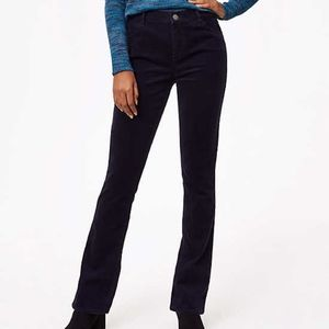 Loft   Black Velvet Bootcut Jeans size 4